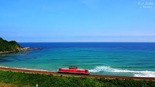 JR貨物 DD51単 山陰本線迂回輸送のための乗員訓練 (5-Aug-2018)