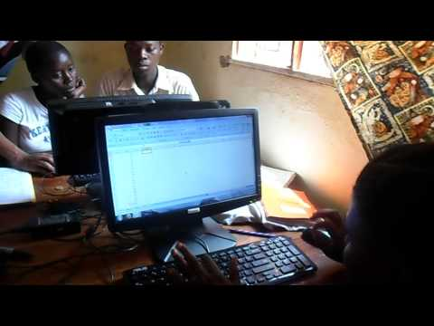ICT training session at Songambele Maarifa centre.AVI