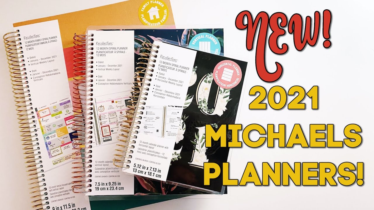 NEW 2021 MICHAELS PLANNERS!