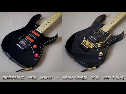 ibanez rg 550 - before vs after (upgrades + modifications)