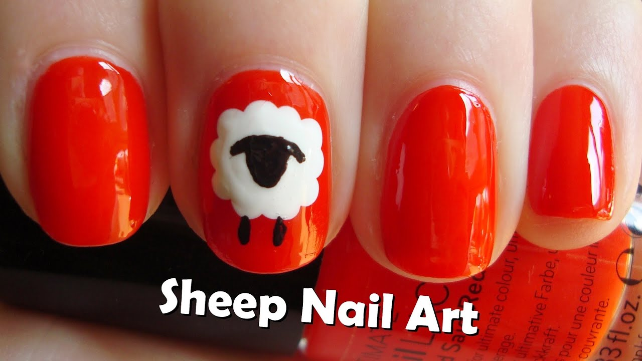 Chinese New Year 2015 Nails Easy Sheep Nail Art