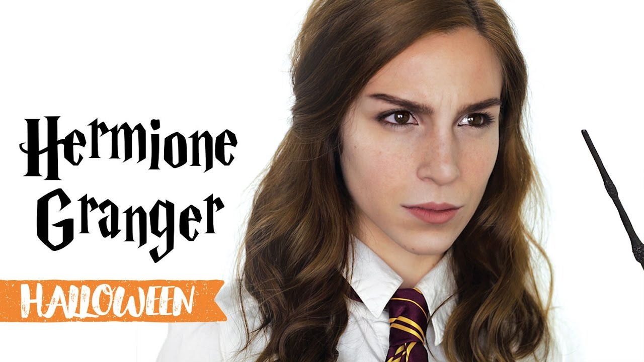 maquillage d 39 halloween hermione granger youtube. Black Bedroom Furniture Sets. Home Design Ideas