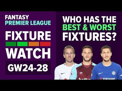 Who Has The Best Fixtures? | FIXTURE WATCH | Gameweek 24 | Fantasy Premier League