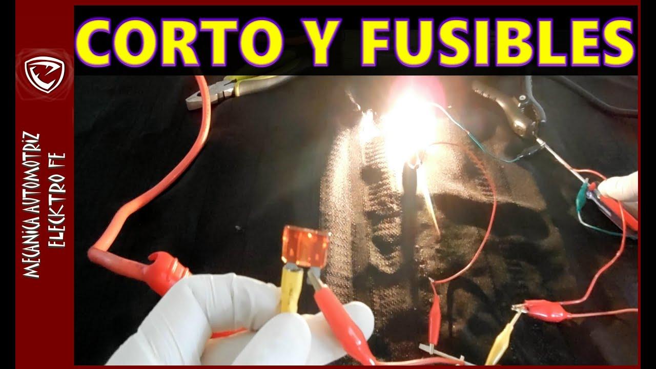 Causas de CORTO CIRCUITO Y FUSIBLES QUEMADOS (practica ...