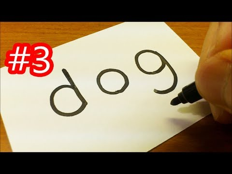 very-easy-&cute-!-how-to-turn-words-dog(shiba-inu)into-a-cartoon-for-kids---how-to-draw-doodle-art