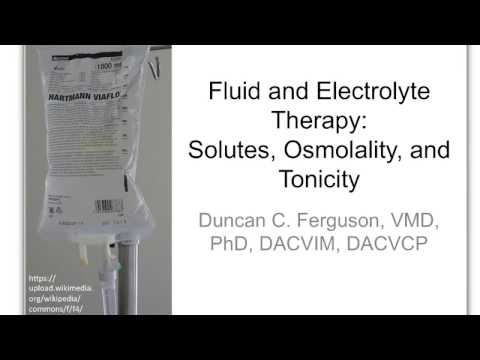 Fluid Therapy 2: Solutes,Osmolality and Tonicity