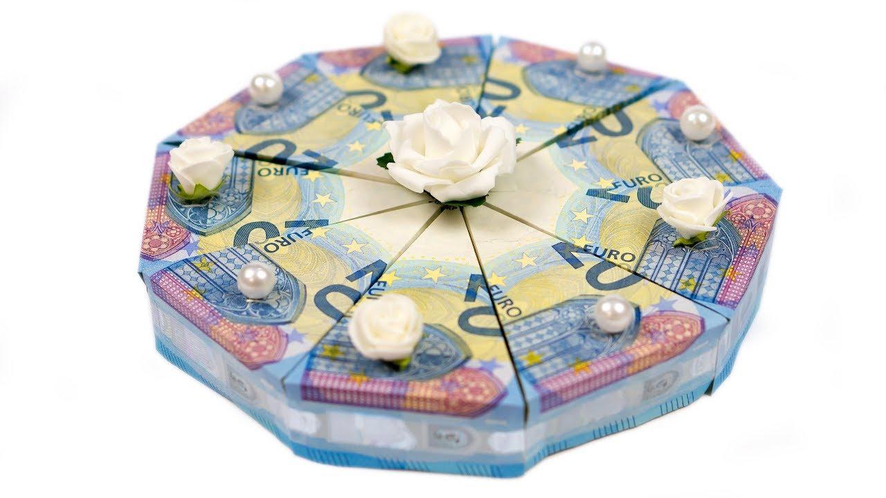 Geld Falten Torte Hochzeitsgeschenk Selber Basteln Diy Anleitung