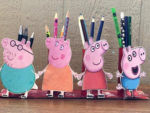 DIY Desk organizer for kids/Back to school organizers/recycle tissue paper rolls