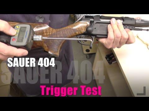 Sauer 404 adjustable Trigger Test / 404 QUATTRO-Abzug Test
