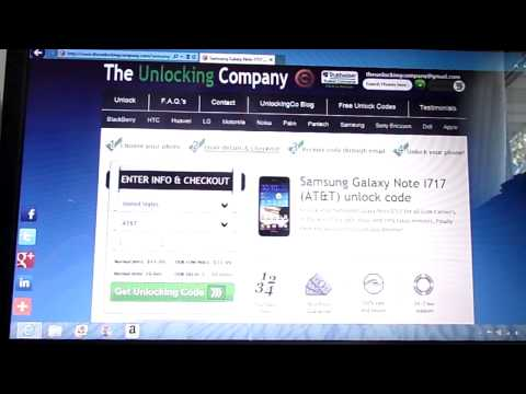 How to unlock the AT&T i717 Samsung Galaxy Note using online site!