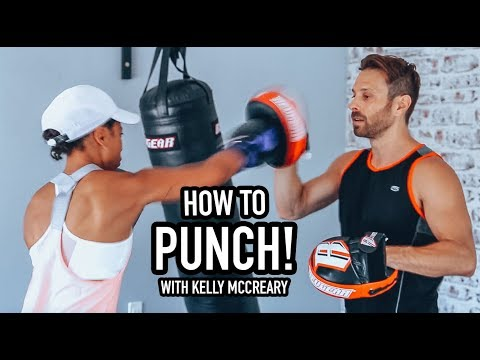 Kelly McCreary learns to Punch w AJ Draven  Defend yourself Krav Maga Class.
