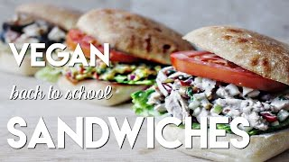 3 Vegan Back to School Sandwiches // MoreSaltPlease