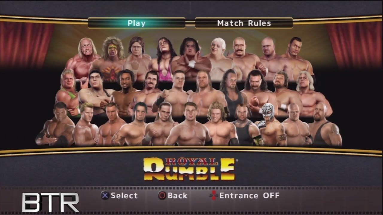 Wwe Legends Of Wrestlemania Versus Smackdown Vs Raw 2009 30 Man Royal Rumble Match Youtube