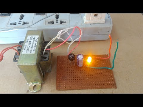 How to make 12v,1A DC power supply (230 AC to 12v DC)without regulator