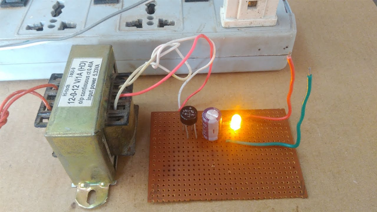 how to make 12v 1a dc power supply 230 ac to 12v dc without regulator [ 1280 x 720 Pixel ]