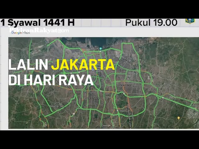 Kondisi Lalu Lintas Jakarta Selama Hari Raya Idul Fitri 1441 Hijriah