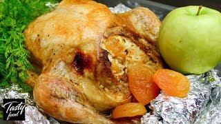 Курица Запеченная в Духовке с Хрустящей Корочкой и Вкусной Начинкой!