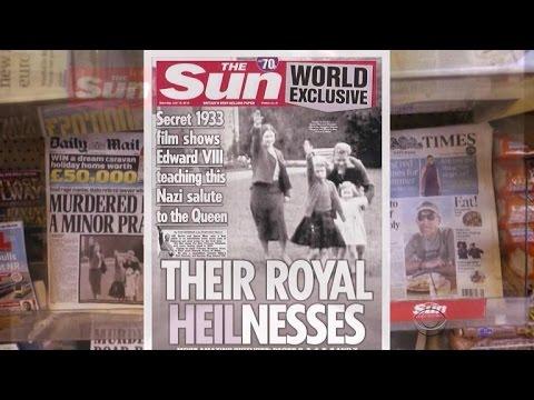 Film shows Queen Elizabeth II as a child giving Nazi salute