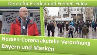 Demo Frieden und Freiheit Fulda/ 23.01.21/ Hessen-Corona akutelle Verordnung