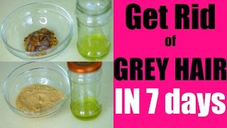 Reverse Grey Hair | 2 Ways to Reverse Grey Hair in 7 Days | SuperPrincessjo