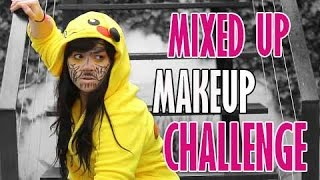 MIXED UP MAKEUP CHALLENGE!! / SandyCoben