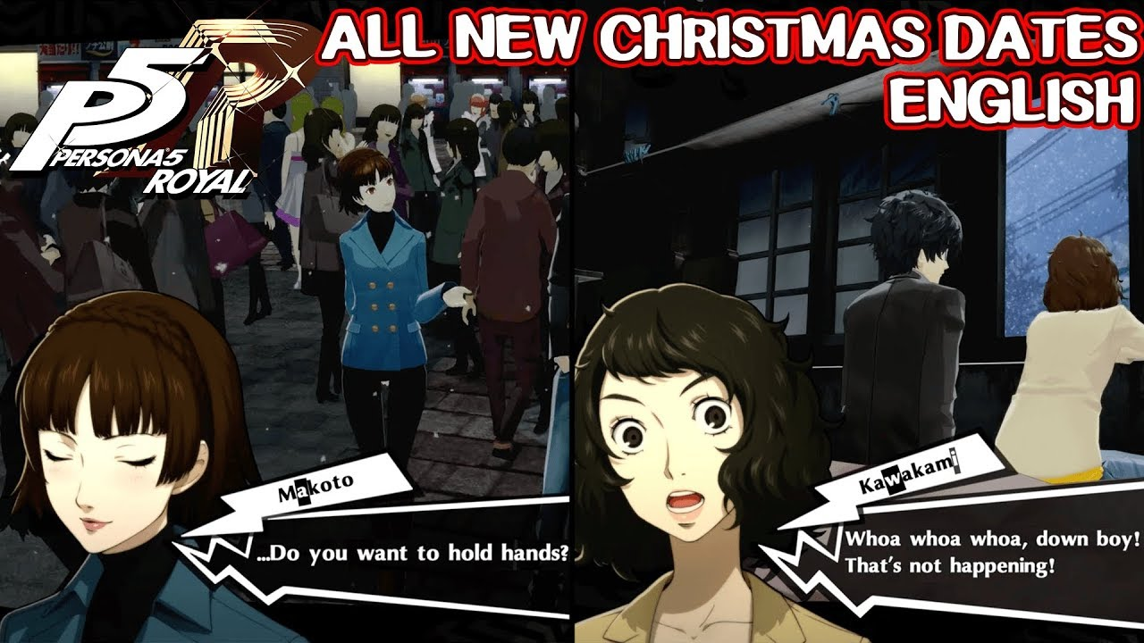 All New Christmas Dates English Persona 5 Royal Youtube