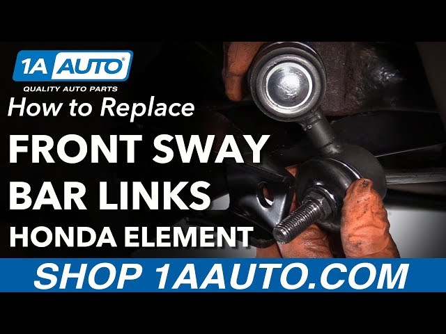 How to Replace Front Sway Bar Links 03-11 Honda Element   1A