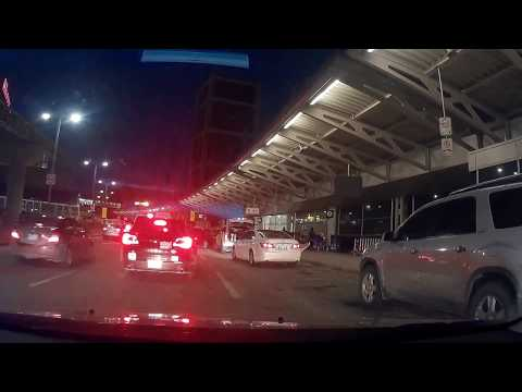 Driving to Toronto Pearson International Airport from Hamilton (time lapse)