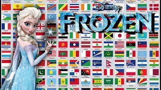Frozen - Let It Go in 42 languages with flags