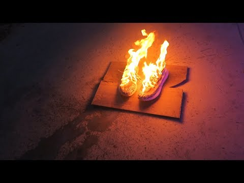 Thumbnail: BURNING JAKE PAUL AND EMILIO'S YEEZYS (sorry)
