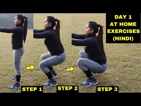 DAY 1 | Women's FAT LOSS Workout AT HOME! (Hindi ) | Right Way to SQUAT for Beginners | Session 2