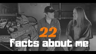 22 facts about me | Q&A with race car driver | about me video