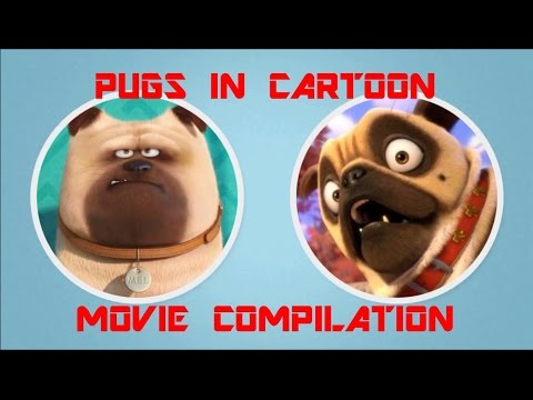 COMPILATION PUG IN CARTOON MOVIE