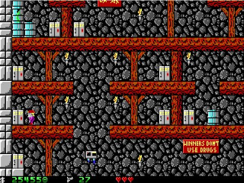Apogee Crystal Caves I, Troubles With Twibbles, 1991. Level 13 Walkthrough