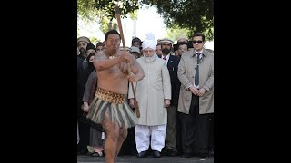 Khalifa of Islam Hadhrat Mirza Masroor Ahmad (atba) was Traditionally Welcome in New Zealand