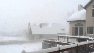 Blizzard on a Christmas Day 2015 in Alpine, Utah