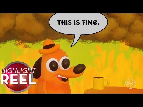 """Highlight Reel #457 - """"This Is Fine"""" Comic Remade Entirely In Dreams"""