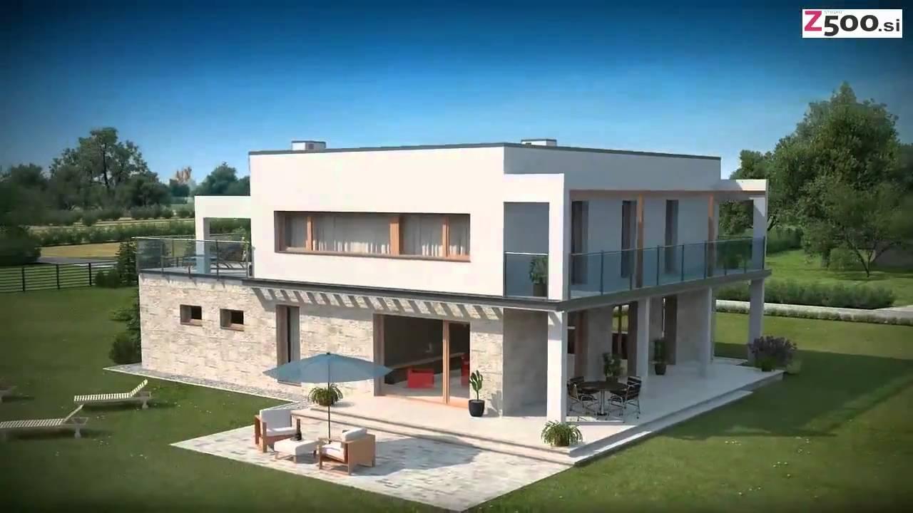 Zx5 - 3D vizualizacija tipskega projekta hiše - www.z500.si - YouTube