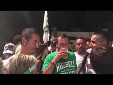 Matteo Salvini a Soncino, comizio e bagno di folla