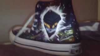 Hand Painted Doctor Who Converse Shoes