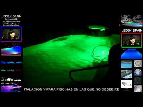 Iluminaci n de colores en piscinas con leds doovi for Iluminacion led para piscinas