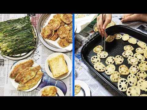 Making Jeon: Korean Pancakes 鈾� How I Spent Chuseok with My Family in Korea