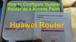 how to configure huawei router as a wireless access point
