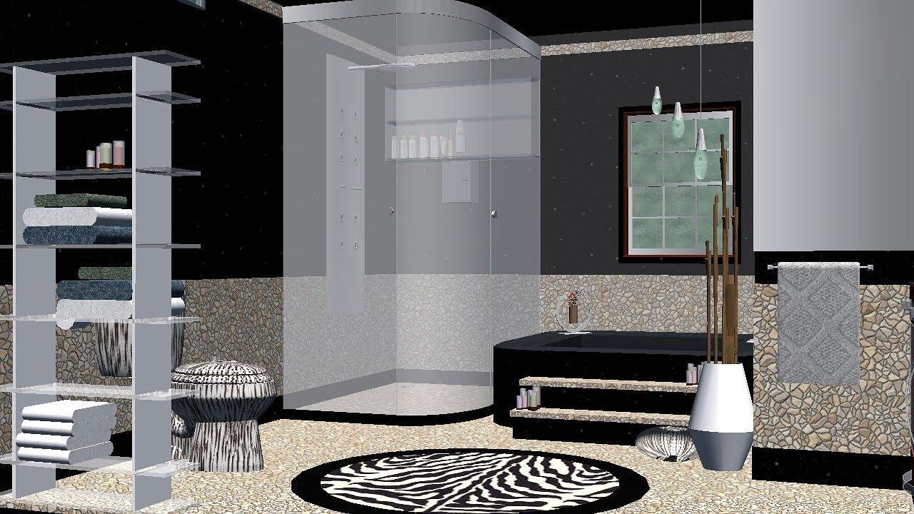 Greenscreen Background Bathroom In Black