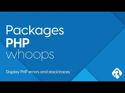 PHP Packages - Whoops PHP Error Library, How To Display Errors In PHP Development