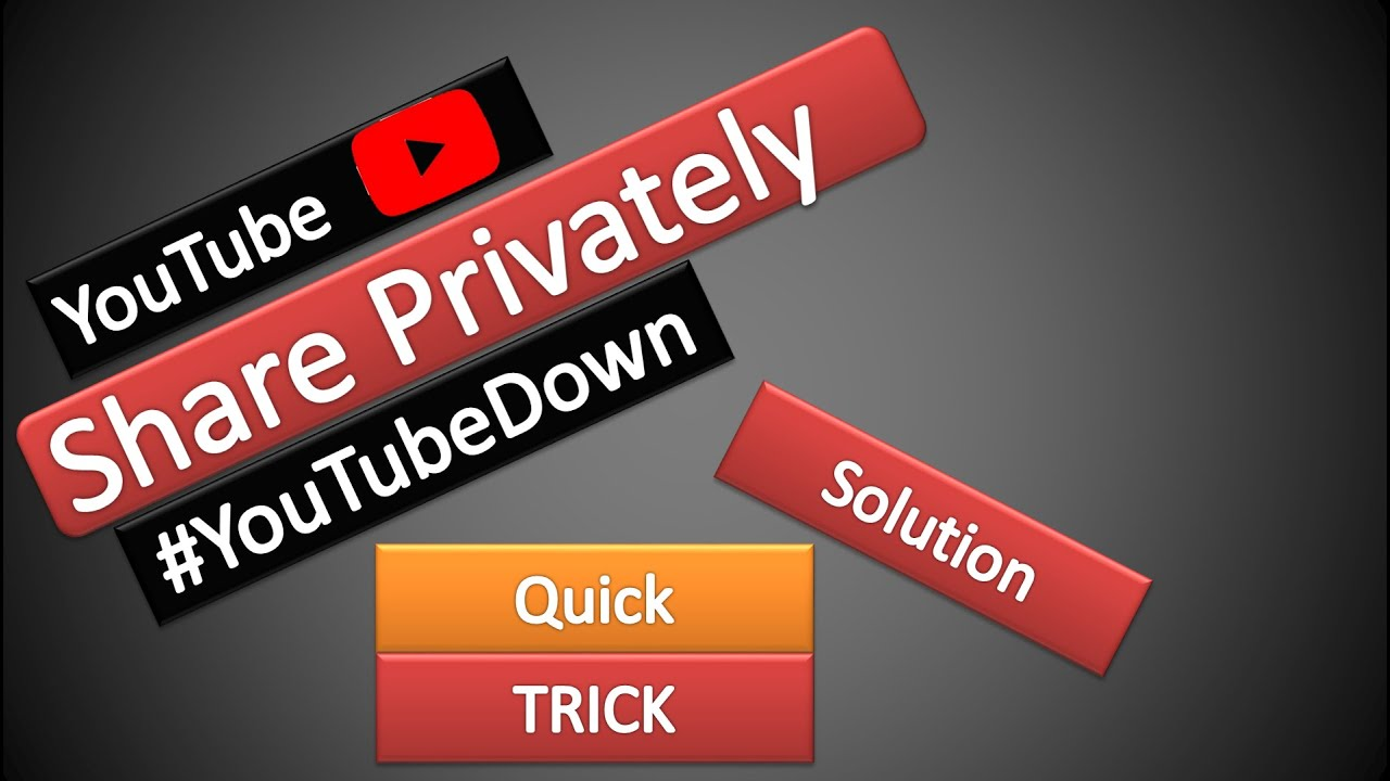 [ Update : it is Fixed by Youtube] Share Private Youtube Video : Quick Trick Solution