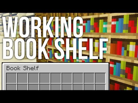 How To Build A Working Bookshelf In Minecraft