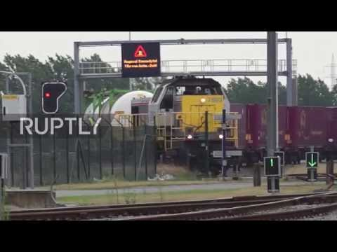 Belgium: Cargo train travels from China to Belgium cutting transport time by three quarters