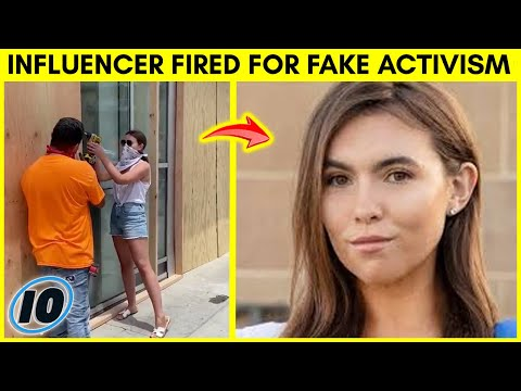 Influencer Fired For Pretending To Clean Up Riot Aftermath