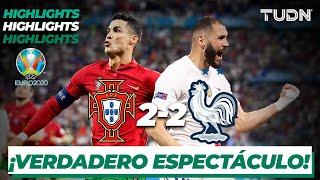 Highlights   Portugal 2-2 Francia   UEFA Euro 2020   Grupo F-J3   TUDN